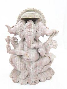 Lord Ganesha Statue Stone Sculpture Yoga Room by MOGULGALLERY