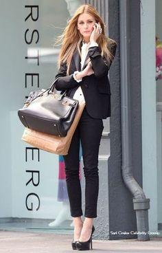 Style Inspiration Olivia Palermo Street Style Looks 2013 Fashion Mode, Office Fashion, Work Fashion, Womens Fashion, Style Fashion, Asos Fashion, Fashion Finder, Fashion Black, London Fashion