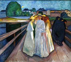 Edvard Munch - The Ladies on the bridge [1903]