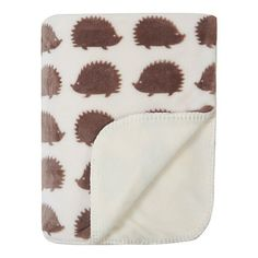 George Home Supersoft Hedgehog Print Sherpa Throw | Home & Garden | George at ASDA