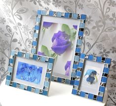 blue frame set 5x7 frame 8x12 frame 4x6 frame mosaic frame set picture frame 5x7 photo frame 8x12 frame 4x6
