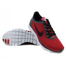 Opprinnelige Nike Free 3.0 V2 Rød Mann SombreGrise Svart Hvit paris{7Khzii}