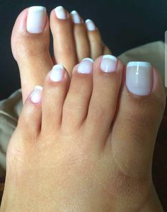 White on white summer pedicure. Pretty Pedicures, Pretty Toe Nails, Cute Toe Nails, Sexy Nails, Cute Toes, Pretty Toes, Sexy Toes, Toe Nail Color, Toe Nail Art