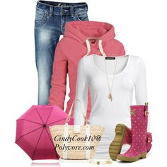 """Rainboots!"" by cindycook10 on Polyvore"