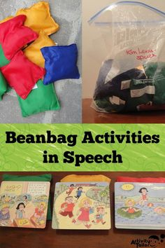 If you have a bag of beanbags (and you should!) you can start using these activities in your speech room with your next students! Ideas for both articulation and language activities. Bean Bag Activities, Play Therapy Activities, Preschool Speech Therapy, Therapy Games, Articulation Activities, Speech Language Therapy, Speech And Language, Preschool Activities, Therapy Ideas