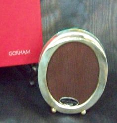 Search by seller FineThings4sale - view all of our collections! ------- HEAVY GORHAM STERLING SILVER - 5+ INCH TALL FOOTED OVAL PICTURE FRAME UNUSED NIB