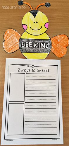 Kindness Day - Kind Shirt - Ideas of Kind Shirt - Free Writing project for World Kindness Day Bee Activities, Kindness Activities, Classroom Activities, Classroom Ideas, Google Classroom, Future Classroom, Classroom Organization, Teaching Kindness, Kindness For Kids