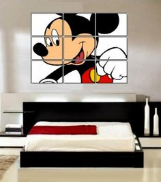 east DIY Mickey Mouse themed bedroom