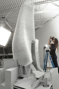 Phare Tower 12' Model Photo | Morphopedia | Morphosis Architects
