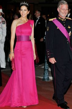 H.R.H. Crown Princess Mary of Denmark attended a dinner in Monaco.