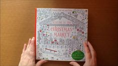 Welcome To The Christmas Market by Ruth Russell for Usborne Books Fold out and Colour with transfers Christmas Colors, Colouring, Marketing, Cover, Books, Art, Love You, Livros, Livres