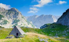 Little cabin high in the mountains in Montenegro. Is used in...