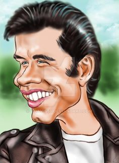 Danny Zuko - Creative Art in Digital Art by Alan Davis in Portfolio Misc. Caricatures at Touchtalent Cartoon Faces, Funny Faces, Cartoon Art, Cartoon Characters, Cartoon People, Danny Zuko, Funny Caricatures, Celebrity Caricatures, Caricature Drawing