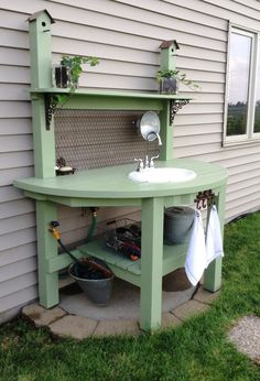 Potting Bench my hubby made me