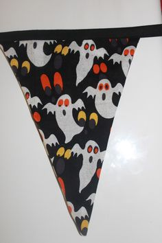 5 metres of halloween fabric perfect for any party. Halloween Bunting, Halloween Fabric, Halloween Ghosts, Garland, Party, Flags, Banners, Products, Banner
