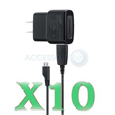 Lot of 10 OEM Samsung Wall Charger ETAOU61JBE USB Micro Cable for S 2 S 3 S 4  #Samsung