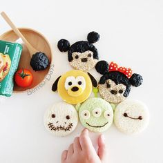 """""""No bento inspiration today so sharing these tsum tsum sandwiches made couple of weeks ago. See if you can figure out the ingredients used """""""