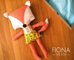 a plush fox my sister Mon made!  So cute!