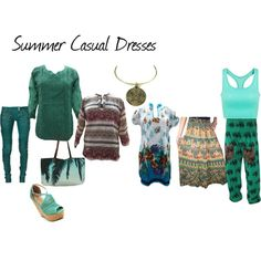 Summer Casual Dresses by mogulinteriordesigns on Polyvore featuring Balmain and Samudra Casual Summer Dresses, Casual Wear, Balmain, Boho, Clothes For Women, Polyvore, How To Wear, Beautiful, Fashion