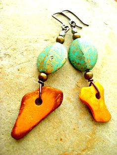 African Earrings  African Jewellery  Tribal by HandcraftedYoga, $21.00