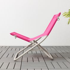 IKEA - HÅMÖ, Beach chair, pink, Made of heavy polyester fabric, which is very durable. This chair is easy to pack and carry since it is both lightweight and foldable.