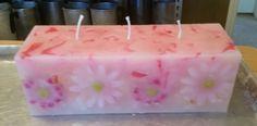 Chunk Candle - Plumeria and Beach Daisies