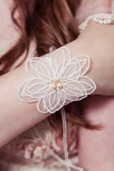 Magnolia cuff - so perfectly delicate, and perfectly Springy.