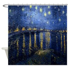 Starry Night Over the Rhone Shower Curtain on CafePress.com