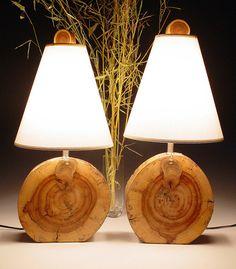 Desert driftwood lamps