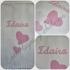 Manta personalizada Napkins, Log Projects, Bed Covers, Beading, Hair Bows, Sewing, Crafts, Towels