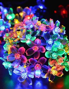 HJL Christmas Oriental Cherry Bulb Led Solar Outdoor Decoration All Over  The Sky Star Of Lamps