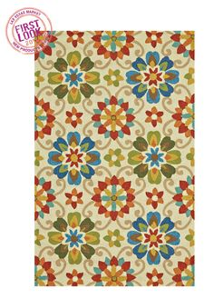 All-weather variety at #LVMkt - @Feizy Rugs has added new floral and geometric patterns to its Hastings line of indoor/outdoor rugs. Spot several colorways Jan. 26-30 in the company's Building C showroom.