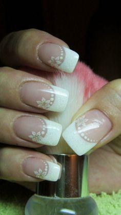 Wedding Nails For Bride Bridal - Nail Art Simple Wedding Nails, Wedding Nails Design, French Nails, Glitter Nails, Fun Nails, Bridal Nail Art, Bride Nails, Nail Polish, Cute Nail Art