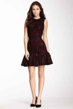 Jill Stuart Sleeveless Cutout Back Lace Dress