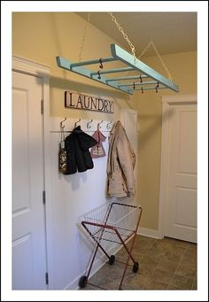 Ladder in the Laundry
