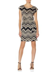 Chevron Stripe Dress from THELIMITED.com Great with sandals or Leggings and boots in the fall.... Season-less pattern and colors make it a perfect transition piece.