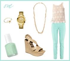 Pretty Little Things: how i'll wear it: mint pants