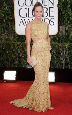 Emily Blunt Cutout Dress
