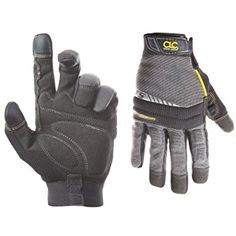 COLD WEATHER INSULATION: Keep your hand and fingers warm while working in winter conditions in these work safety gloves by CLC. The flex grip handyman is built with dexterity and durability in mind.