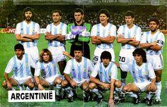 EQUIPOS DE FÚTBOL: SELECCIÓN DE ARGENTINA contra Rumanía 18/06/1990