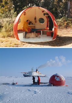 portable prefab igloo modular extreme weather shelters