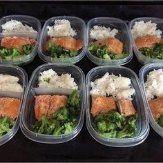 Nice salmon, broccoli, and rice prep by @carmelaxo - Download @mealplanmagic if you want to be in full control of your physique and to help you with... Custom Meal Plans & Nutrition Goals BMR, BMI, & Max Rate Calculator Get Your Macros by Body Type & Goal Grocery Lists Specific to Weekly Needs Accurate Cooking and Prep Summaries Combine & Export Data for Two Plans Track Your Progress & Daily Allowance Food Lists for Clean Eating Database of Over 7,500+ Foods ⏰ Reduce P