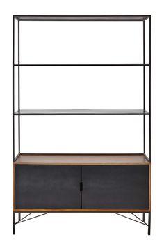 Bücherregal aus Metall, B 120cm, schwarz Arty