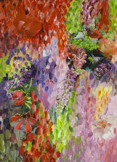 Collage flowers painting