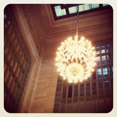 Grand Central lights in the evening