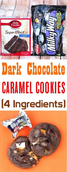Factors You Need To Give Thought To When Selecting A Saucepan Dark Chocolate Cake Mix Caramel Cookies - This Easy Milky Way Dessert Is The Ultimate Guilty Pleasure Just 4 Ingredients Easy Chocolate Desserts, Dark Chocolate Cakes, Chocolate Cake Mixes, Fun Desserts, Easter Desserts, Chocolate Recipes, Bake Sale Cookies, Bake Sale Treats, Caramel Treats