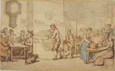 "Rowlandson, ""Interior of an inn"" - Tavern"