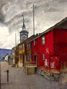 Harald Sohlberg. 1902. Gate I Røros. National Gallery, Oslo, Norway.