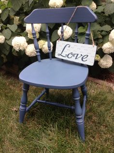"Wooden chair painted with Fusion mineral paint ""Seaside"""