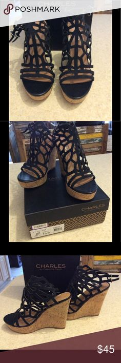 "Charles by Charles David ""Apollo"" Heels NEW! Never worn! size 9.5 Charles David Wedges. Heel is about 5.5 "".. Have original box... Love these! Charles David Shoes Wedges"